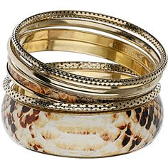 Animal Print Bangle Set ($18) ❤ liked on Polyvore