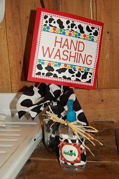 Hand washing station...brilliant!