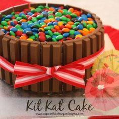 Kit Kat Cake Recipe Cake birthday Birthday cakes and Teen