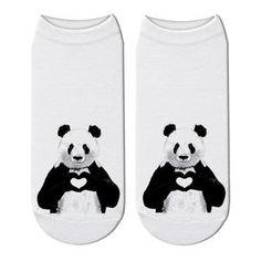 New Printed Panda Cartoon Socks Woomen Character Giant Panda Pattern Unisex Ankle Socks Funny Japanese Kawaii Short Socks Japanese Funny, Short Socks, Funny Socks, Ankle Socks, Panda, Kawaii, Cartoon, 3d, Unisex