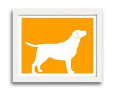 Labrador Retriever Print (version 1) - Labrador Retriever Silhouette