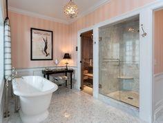 Douglas VanderHorn Architects | Waterfront Georgian Style | Ladies' Master Bath Renovation Inspired by Claridge's Luxury Hotel in London