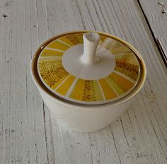Vintage Franciscan Ware Sugar Bowl, Antigua Pattern introduced in 1966, by PyrexandPennies, $24.00