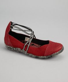 Take a look at this Red Molokai Ankle-Strap Flat by Cushe on #zulily today!  Love these!  too bad they are out of my size.