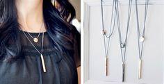 Two Layer Geo Necklace – 3 Color Options!