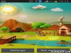 Low Poly Farm  Android App - playslack.com , Low poly farm - live wallapers will show a small farm in a cheerful season day. You will see mountains beyond the line, a shelter near the tract, a tractor and a mountain stream with fish leaping  out.