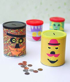 DIY Piggy Banks for a fun way to teach your kids to save money