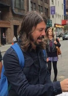 Dave Grohl in NYC for Foo Fighters on Letterman with Zac Brown Band 10/13/14