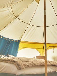 Glamping Hub Big4 Yarra Valley bell tent interior