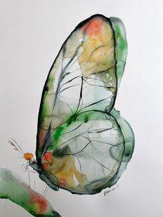 #ArtInspiration - Original watercolor by Alisa Adams one Art from Latvia.