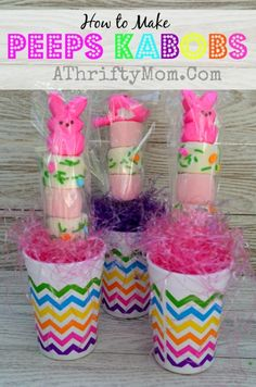 Peeps Kabobs, How to Make Peeps Kabobs and fun and easy Easter Treat, #Peeps, #Easter, #EastDessertIdeas