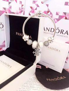 50% OFF!!! $199 Pandora Charm Bracelet White. Hot Sale!!! SKU: CB01845 - PANDORA Bracelet Ideas