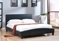 Abbyson Living Caroline Black Leather Platform Bed