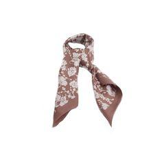 LENÇO FLORIDO BEGE e BRANCO #lenços #lenço #scarf #scarfs