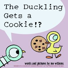 pigeon gets a cookie - by Mo Willems