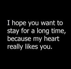 My heart really did like you. I <3 you