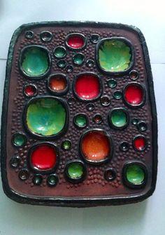 Swedish ceramic plaque. Lars Bergsten 60s