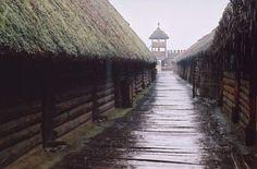 Biskupin in the rain (Poland)
