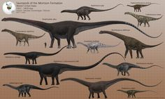 I decided I needed to split the Morrison group sheet into two - there's just too many animals, and the proportions of the sauropods render the smallest non-sauropods almost impossible to see. Non-s...