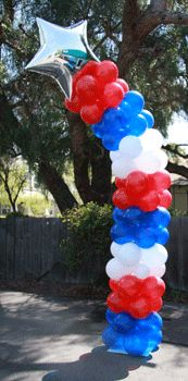 Forth of July Shooting Star Balloon Column