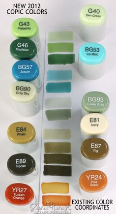the new copic colors, and how they fit in with the current ones - reminds me I should use these!!