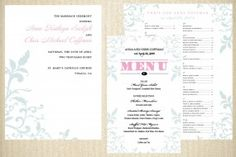 Vintage Floral (Ceremony and Reception Wedding Stationery Suite)