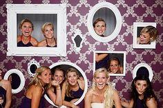 DIY Photo Wall - prom idea, wedding idea