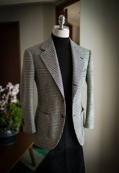 "Bntailor: ""glen check winter sports coat "" jumping in now play that Mens Fashion Blazer, Suit Fashion, Fashion Outfits, Fashion Guide, Fashion Ideas, Fashion Blogs, Fashion Stores, Fashion Trends, Stylish Mens Outfits"