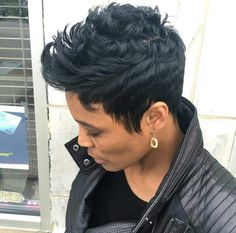 Best Bob Hairstyles & Haircuts for Women - Hairstyles Trends Short Sassy Hair, Short Hair Cuts, Pixie Cuts, Short Pixie, Curly Hair Styles, Natural Hair Styles, Sassy Haircuts, Pixie Haircuts, Short Black Hairstyles