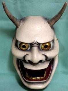 Traditional Kabuki Masks   19th c. NOH MASK ANTIQUE JAPAN KO-OMOTE WOODEN JAPANESE THEATER ASIA ...