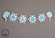 Banderín personalizado Frozen