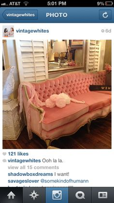 Girlies room- couch with mirror!