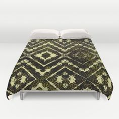 Inkatha Gold Duvet Cover by Vikki Salmela, new, #gold #diamond #pattern #art on #home #decor for your #bedroom. Rich and elegant. Coordinating products available; #pillows, #towels, #tapestries, throw #rugs and more.