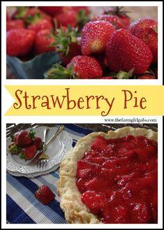 Fresh strawberry pie, Strawberry pie and Pies on Pinterest