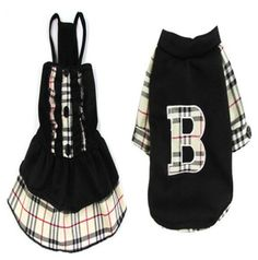 Good small dog pet clothes apparel black dress and t shirt for boy and girl dog