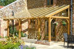 sloping lean to style pergola for outdoor sitting area - Google Search