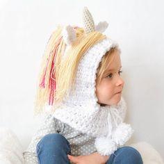 Magical Crochet Unicorn Hood