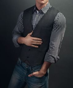 Shirt is good, waistcoat+shirt is ok but I think I'd modify the waistcoat slightly, putting the above with jeans = terrible idea