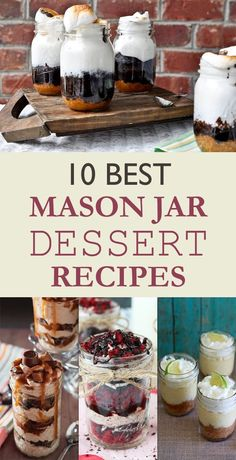 Bake your favorite treats with our many sweet recipes and baking ideas for desserts, cupcakes, breakfast and more at Cooking Channel. Brownie Desserts, Mini Desserts, Mason Jar Desserts, Mason Jar Meals, Meals In A Jar, Mason Jar Diy, Mason Jar Food, Mason Jar Recipes, Chocolate Desserts