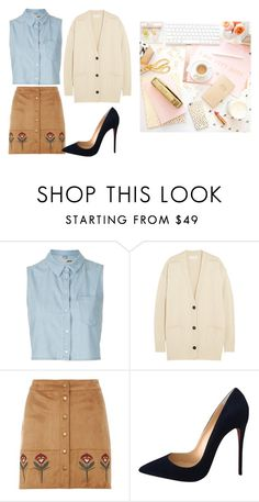 """Untitled #13503"" by jayda365 ❤ liked on Polyvore featuring Topshop, Étoile Isabel Marant, Dorothy Perkins and Christian Louboutin"