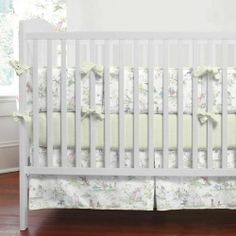 Sage Green Nursery Rhyme Baby Bedding Collection