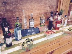 Elmore Court's new and fully stocked Gin Bar! Gin is in! #weddings
