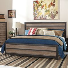 Signature Design By Ashley Harlington Gray Queen Panel Bed