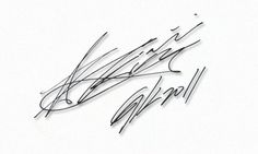 The only way I can get his signature :S