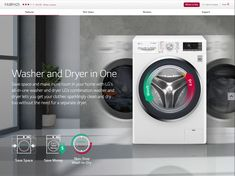 LG : KG Smart Eco Hybrid™ Washer™ Dryer with True Steam™ technology Find Picture, Washer And Dryer, Cleaning, Technology, Writing, Tech, Washing And Drying Machine, Tecnologia, Home Cleaning