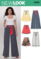 Wide leg pants and flared skirt Newlook - 6896