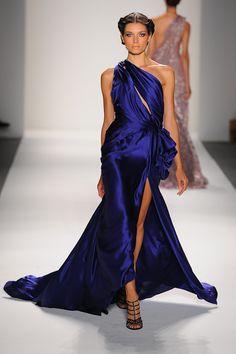 Venexia designer evening gown one shoulder rhinestone strap