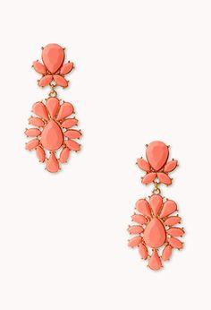 Striking Faux Stone Drop Earrings | FOREVER 21 - 1000066320