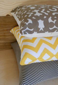for my new grey, white and yellow bedroom.