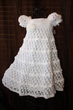 The Kate - Crochet Christening Dress, Blessing Dress, Heirloom, Christening Gown,  Baptism Gown, Confirmation. $95.00, via Etsy. This seller... Wow!